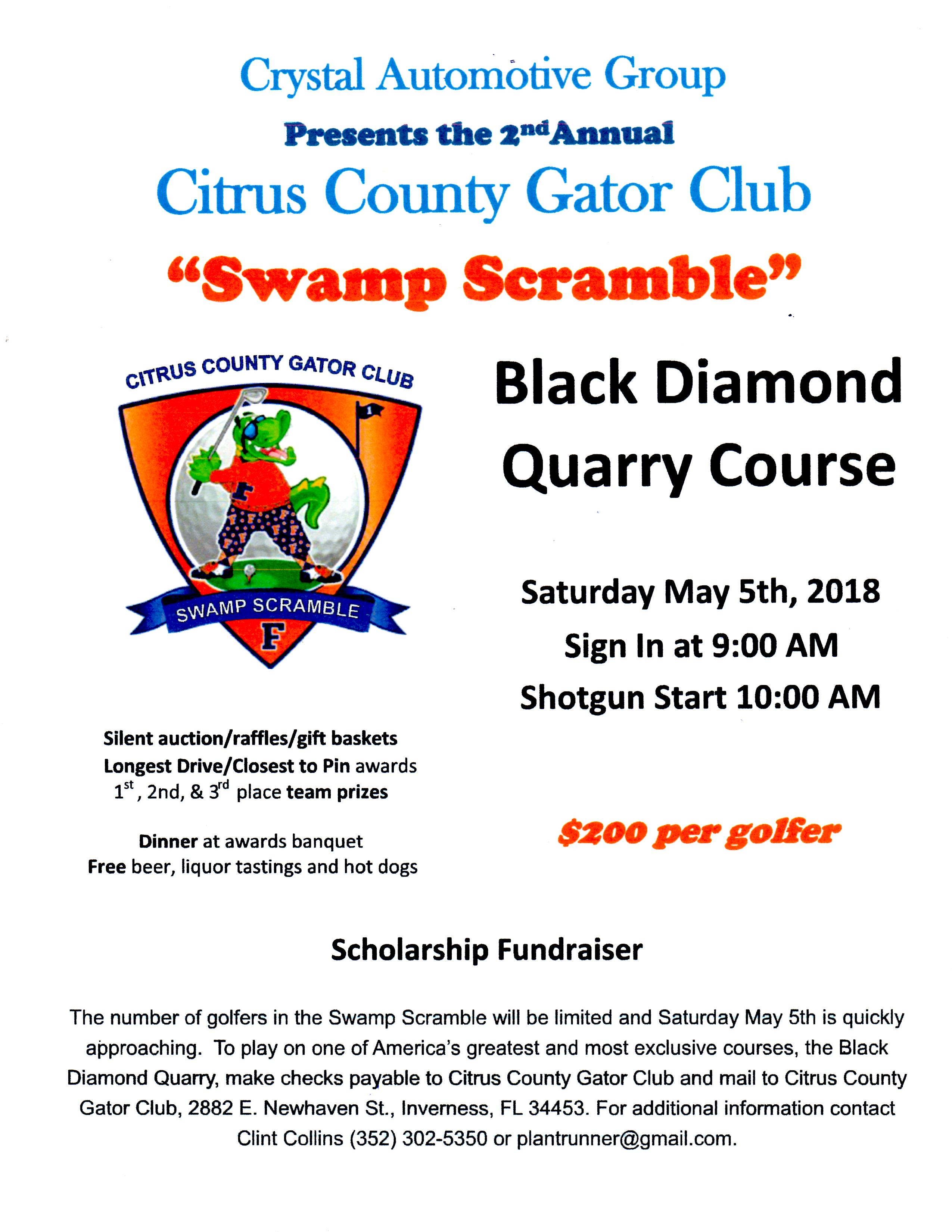 2018 Swamp Scramble Flyer